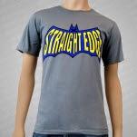 1981 Straight Edge Clothing Bat Graphite Gray T-Shirt