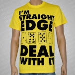 1981 Straight Edge Clothing Deal With It Yellow T-Shirt