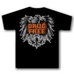 1981 Straight Edge Clothing Drug Free Crest Black T-Shirt