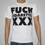 1981 Straight Edge Clothing Fuck Cigarettes White T-Shirt