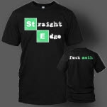 1981 Straight Edge Clothing Fuck Meth Black T-Shirt