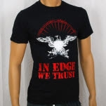 1981 Straight Edge Clothing In Edge We Trust Black T-Shirt