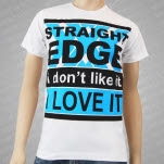1981 Straight Edge Clothing I Love It White T-Shirt