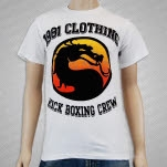 1981 Straight Edge Clothing Kick Boxing Crew White T-Shirt