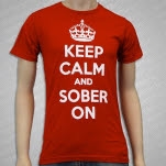 1981 Straight Edge Clothing Keep Calm And Sober On Red T-Shirt