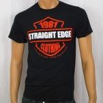 1981 Straight Edge Clothing Live Drug Free Black T-Shirt