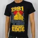1981 Straight Edge Clothing Lion Black T-Shirt