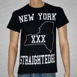 1981 Straight Edge Clothing New York SXE Black T-Shirt