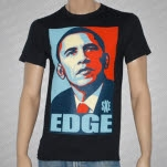 1981 Straight Edge Clothing Obama Edge Black T-Shirt