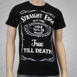 1981 Straight Edge Clothing Old 24 Black T-Shirt