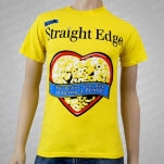 1981 Straight Edge Clothing Reduce Your Risk Yellow T-Shirt
