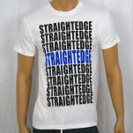 1981 Straight Edge Clothing Straight Edge Stack White T-Shirt