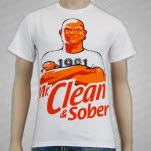 1981 Straight Edge Clothing Clean And Sober White T-Shirt