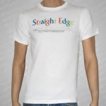 1981 Straight Edge Clothing Search White T-Shirt