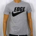 1981 Straight Edge Clothing Swoosh Heather Gray T-Shirt