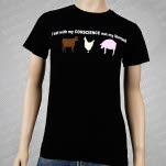 1981 Vegan and Vegetarian Conscience Black T-Shirt