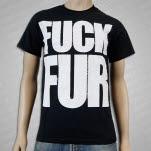 1981 Vegan and Vegetarian Fuck Fur Stack Black T-Shirt