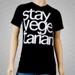 1981 Vegan and Vegetarian Stay Vegetarian Black T-Shirt