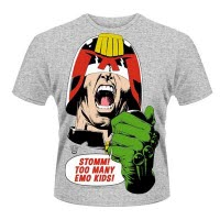 2000Ad Judge Dredd Emo Kids T-Shirt