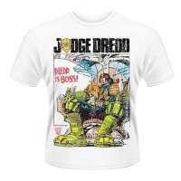 2000Ad Judge Dredd Dredd Is Boss Distressed T-Shirt