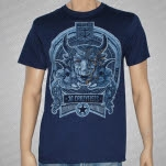 36 Crazyfists Seal Navy Blue T-Shirt