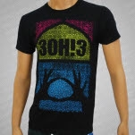 3OH3 Window Black T-Shirt