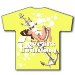5 Years  Counting Pinup Lemon Yellow T-Shirt