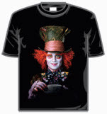 Alice In Wonderland Mad Hatter Portrait Short Sleeve T-Shirt