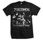 7 Seconds Old School American Hardcore Black T-Shirt