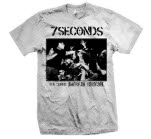 7 Seconds Old School American Hardcore White T-Shirt