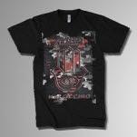 Abandon All Ships Camo Logo Black T-Shirt