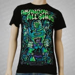 Abandon All Ships Monster Robot Black T-Shirt
