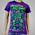Abandon All Ships Monster Robot Purple T-Shirt