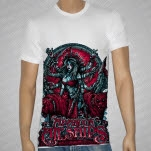 Abandon All Ships Shiva White T-Shirt