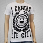 A Candle Lit City Laurel White T-Shirt
