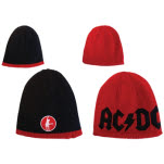 Acdc Reversible Black Red Beanie