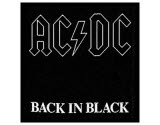 Acdc Back In Black Woven Patch