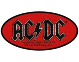 Acdc Oval Logo Woven Patch