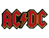 Acdc Shaped Logo Emb Woven Patch