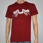 Against All Authority Exchange Maroon T-Shirt