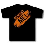 Against Me Orange Logo Black Girls T-Shirt