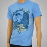 A Girl A Gun A Ghost Old Man Light Blue T-Shirt