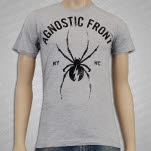 Agnostic Front Black Widow Heather Gray T-Shirt
