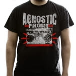 Agnostic Front Ghetto Blaster Black T-Shirt