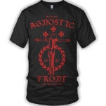 Agnostic Front Still Crucified Red on Black T-Shirt