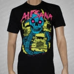 Alesana Skull Trucker Black T-Shirt