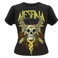 official Alesana Skull Wings Girlie T-Shirt