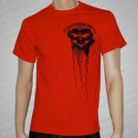 Alexisonfire Bloody Heart Red T-Shirt