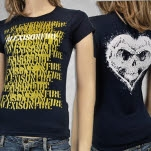 Alexisonfire Spraypaint Navy Girls T-Shirt