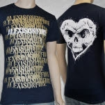 Alexisonfire Spraypaint Navy T-Shirt